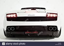 convertible lamborghini white lamborghini convertible tail lights stock photo royalty