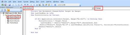 java filter worksheet 2 data based on worksheet 1 in same book