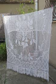 Crochet Valance Curtains 53 Best Crocheted Window Treatments Images On Pinterest Crochet