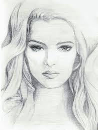 simple pencil drawing picture of film actress drawing of sketch