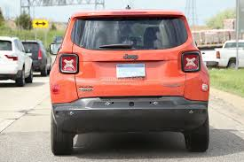 jeep renegade orange 2017 2017 jeep c suv prototype spied wearing renegade body shell