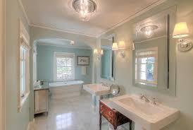 Bathroom Sconces Restoration Hardware Traditional Master Bathroom With Crown Molding U0026 Freestanding