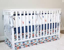 Orange Crib Bedding Sets Woodlands Nursery Crib Bedding Set Baby Boy Deer Buck Bedding