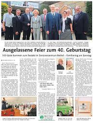 Standesamt Bad Oeynhausen Presse Seniorenzentrum Bethel Bad Oeynhausen
