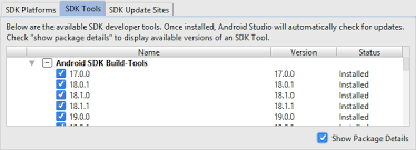 android build tools opening pre android studio 3 projects tek eye
