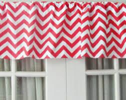 Coral Valance Curtains Nursery Decor Two Tiered Curtain Elephant Chevron Polka Dot