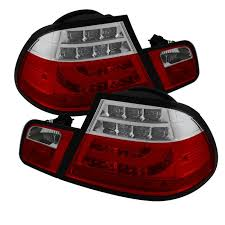 2004 bmw 330i tail lights spyder red clear lightbar style led tail lights for 2004 2006 e46