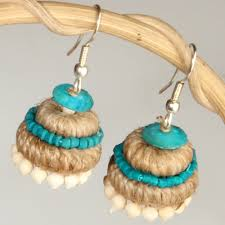 jute earrings ethnic jute earrings giftsmate