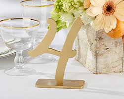 kate aspen as gold classic table numbers 1 6 by kate aspen
