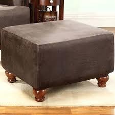 ottoman leather effect storage stool ottoman with tray white