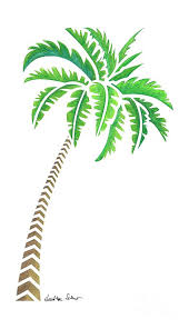 tribal coconut palm tree drawing by schaefer