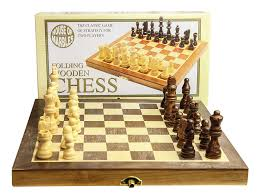 Diy Chess Set by House Of Marbles Standard Wooden Fold Up Chess Set Amazon Co Uk