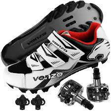 riding shoes venzo mountain bike bicycle cycling shimano spd shoes pedals
