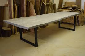 Living Edge Dining Table by Live Edge Dining Table Grey Dining Table