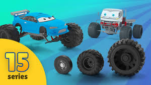 monster truck cartoon videos tow truck helps monster trucks trucks for kids monster trucks