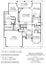 plan no 2748 0203 narrow 2 story floor plan