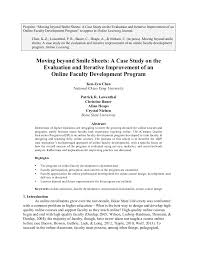 design studies journal template moving beyond smile sheets a case study on the evaluation and iterat