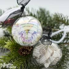 book page filled ornaments muslin and merlot