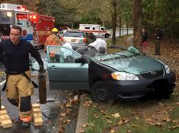 dozens of car crashes occur in montgomery county during rainy day