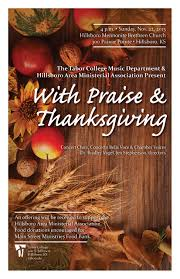 thanksgiving and praise thanksgiving concert nov 22 tabor college