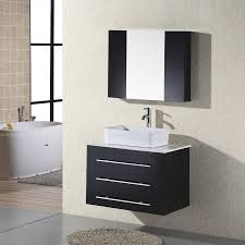 shop design element elton espresso single vessel sink bathroom