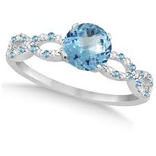 blue wedding rings blue topaz engagement rings 2017 wedding ideas magazine
