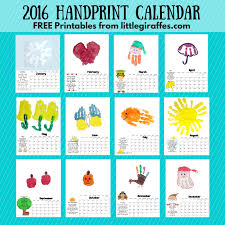 printable calendar 2016 for teachers handprint calendar little giraffes teaching ideas a to z teacher