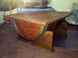 the country styled wine barrel table wigandia bedroom collection