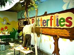 playschool class room and wall paiting youtube