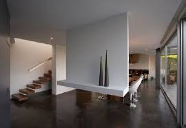 modern home interior designs architecture modern concrete home designs with gray fabric sofa