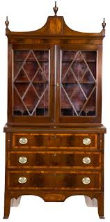 small inlaid mahogany federal secretary desk salem circa 1780