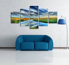 5 panels nature landscape canvas print painting modern canvas wall