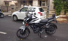 mitsubishi adventure modified bajaj pulsar ns200 given the adventure look made into a marbel