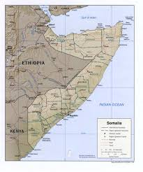 Africa Physical Map by Somalia Physical Map 2002 Full Size