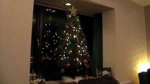 rotating christmas tree house window display youtube