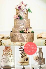wedding cakes 2016 2016 summer wedding trend bronze wedding cakes