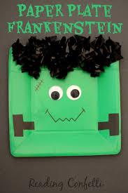 paper plate frankenstein kid craft reading confetti