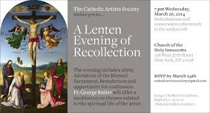 Recollec - lenten evening of recollection wednesday march 26th 7pm