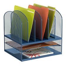 safco onyx mesh desk organizer amazon com safco products 3255bu onyx mesh desktop organizer with
