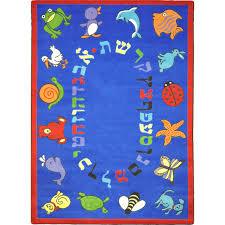 Kids Carpets Rugs Abc Animals Hebrew Alphabet Joy Carpets