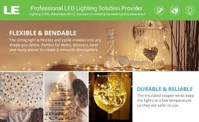 le 100 leds 33ft copper wire string lights warm white