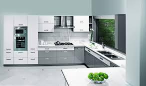 silver sleek sophisticated c shaped kitchen design kitchen