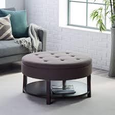round leather storage ottoman wallpaper photos hd eekenners