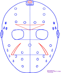 Jason Mask How To Draw Jasons Mask Step By Step Movies Pop Culture Free