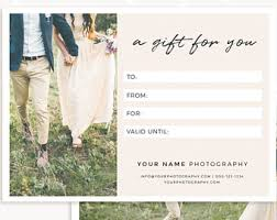 gift certificate template photo gift card printable