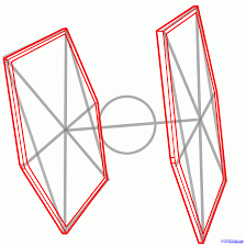 how to draw a tie fighter tie fighter star wars step by step