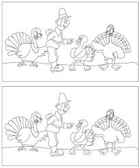 printable thanksgiving find the differences