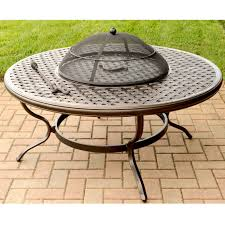 Wood Firepits Agio Heritage Alumicast Outdoor Wood Pit With Basket Weave