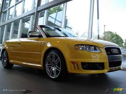 audi convertible 2008 2008 imola yellow audi rs4 4 2 quattro convertible 7431780