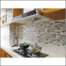 H Peel And Stick Decorative Mosaic New Set Of  Self Adhesive - Vinyl tile backsplash